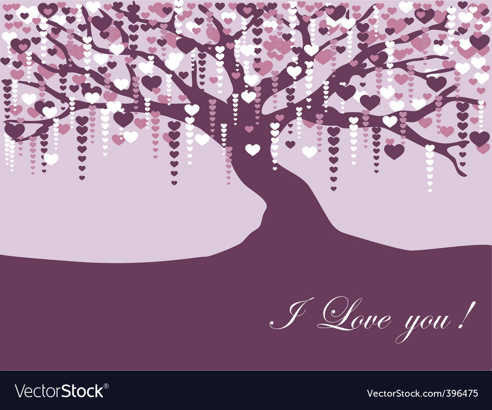 Vintage violet tree vector | Price: 1 Credit (USD $1)