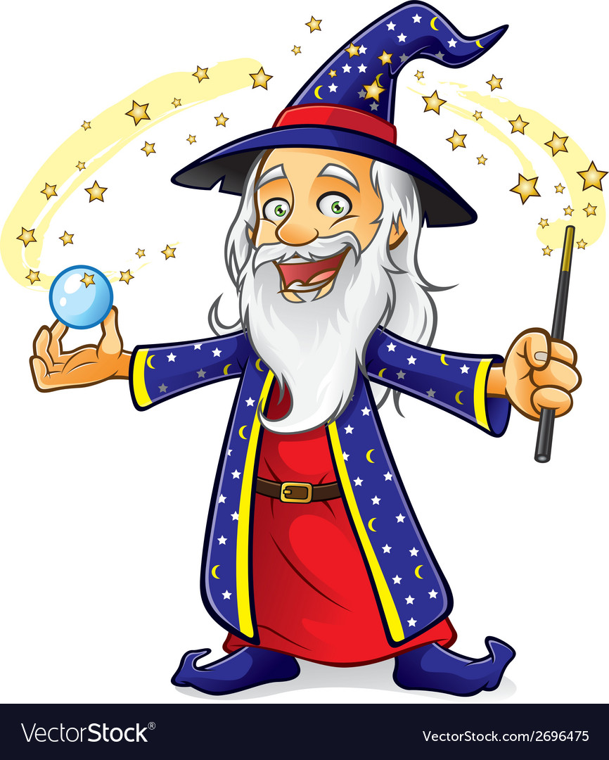 Wizard vector | Price: 1 Credit (USD $1)