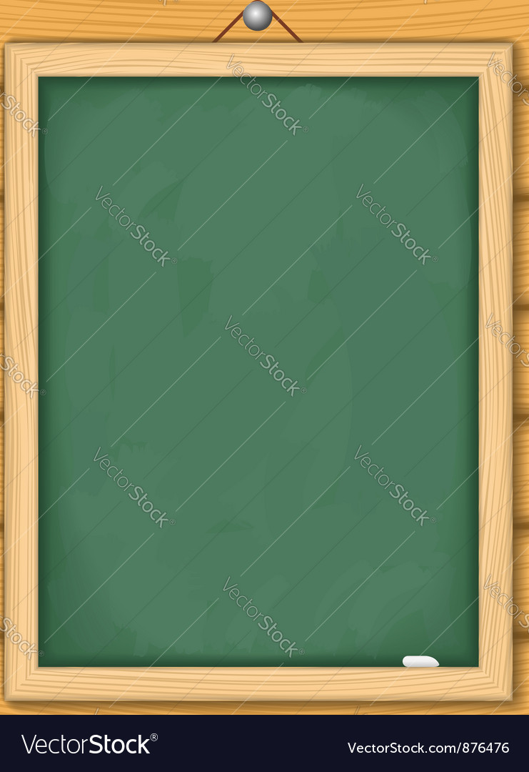 Blackboard on wooden wall vector | Price: 1 Credit (USD $1)