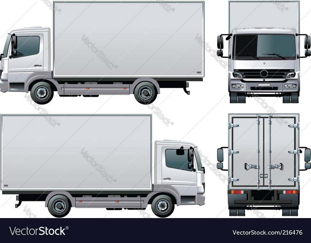 Delivery cargo truck vector | Price: 3 Credit (USD $3)