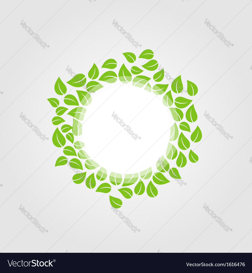 Design element with spring leaves vector | Price: 1 Credit (USD $1)