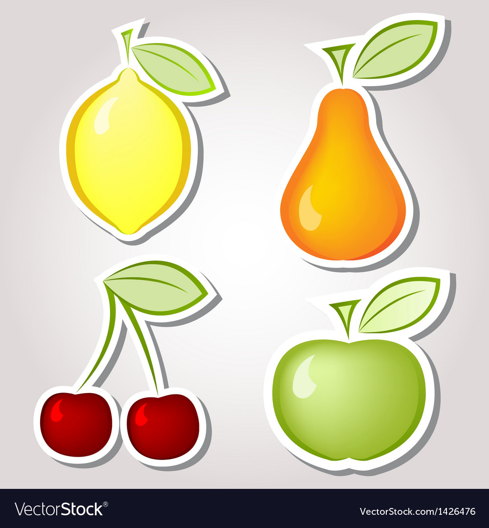 Fruit labels vector | Price: 1 Credit (USD $1)