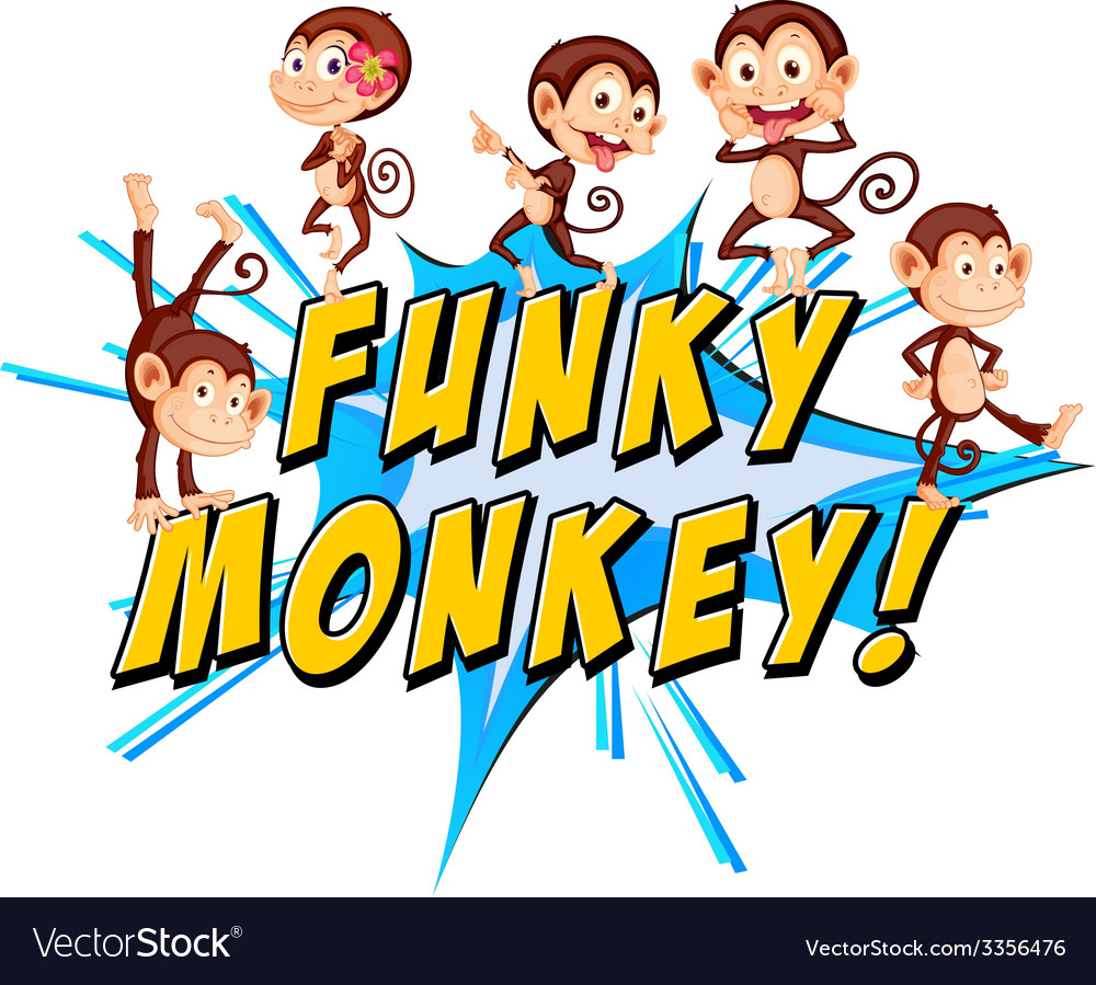 Funky monkeys vector | Price: 1 Credit (USD $1)