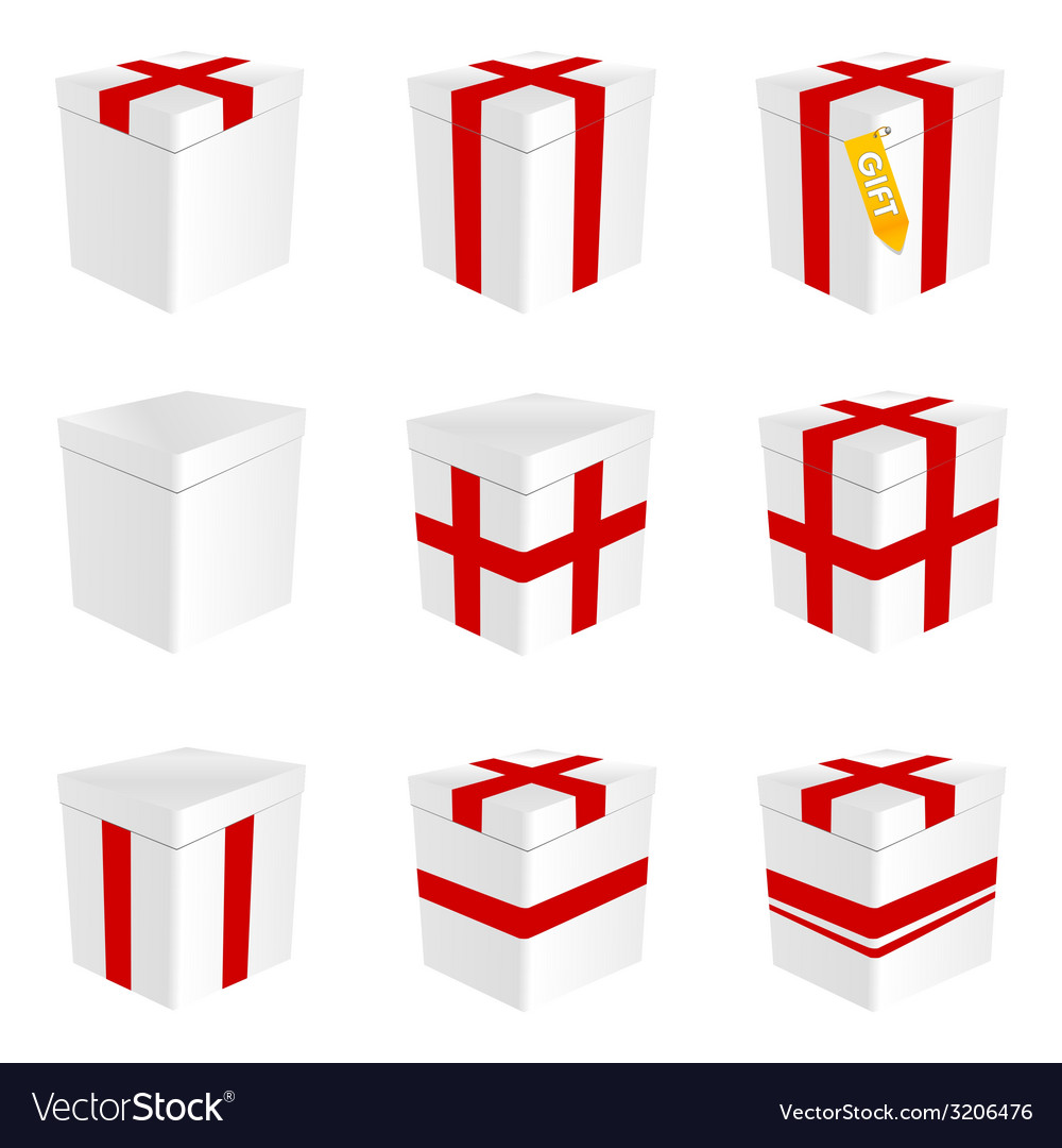 Gift box in white color vector | Price: 1 Credit (USD $1)