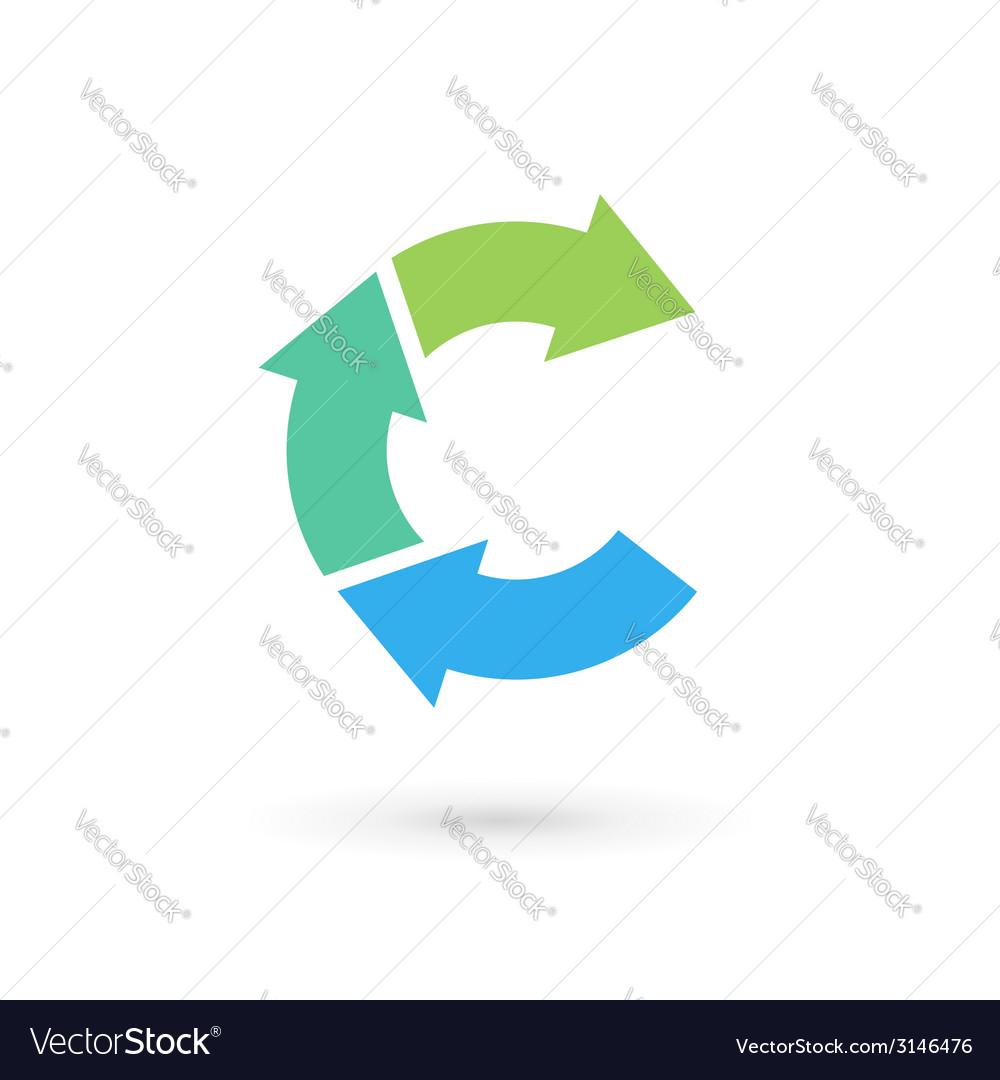 Letter c arrow logo icon design template elements vector | Price: 1 Credit (USD $1)