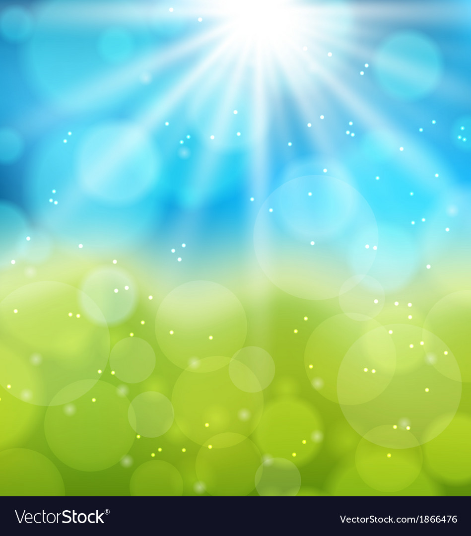 Sunny natural background with lens flare vector | Price: 1 Credit (USD $1)