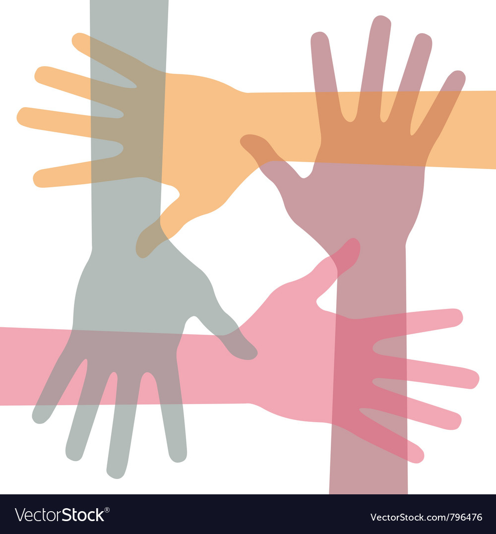 United hands vector | Price: 1 Credit (USD $1)