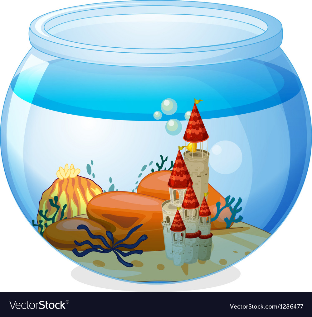 An aquarium with a palace vector   Price: 1 Credit (USD $1)