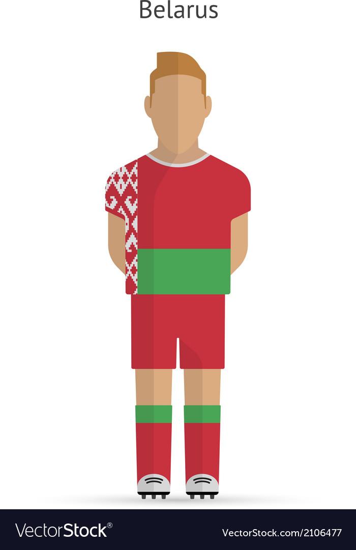 Belarus football player soccer uniform vector | Price: 1 Credit (USD $1)