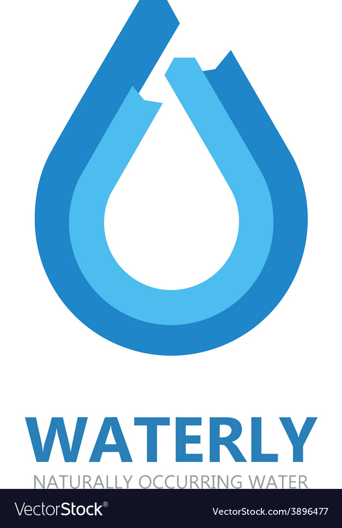 Blue water drop logo vector | Price: 1 Credit (USD $1)