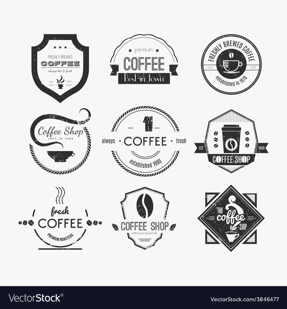 Coffee shop logo collection vector | Price: 1 Credit (USD $1)