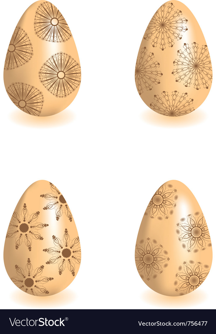Decorative easter eggs vector | Price: 1 Credit (USD $1)