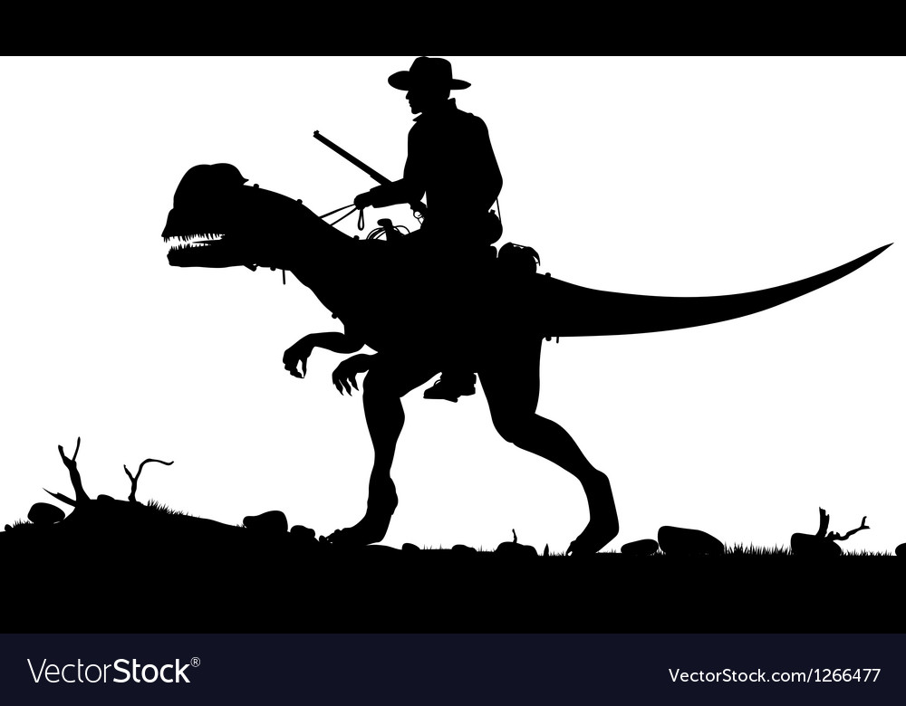 Prehistoric cowboy vector | Price: 1 Credit (USD $1)
