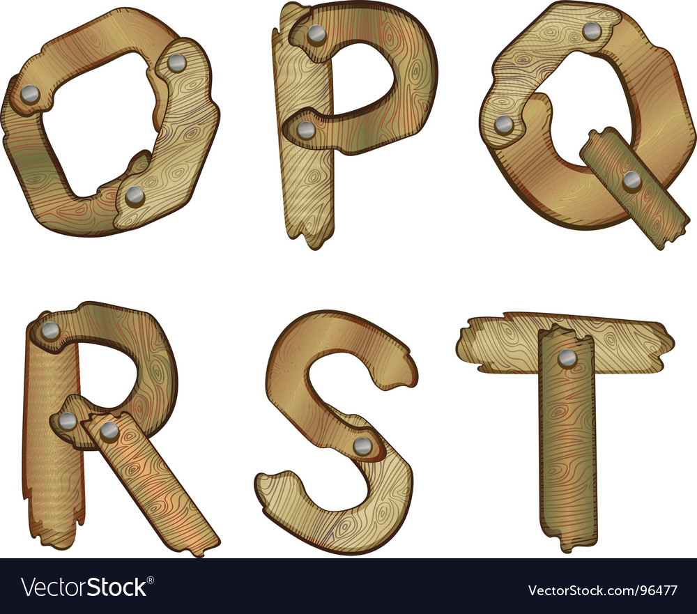 Wooden letters vector | Price: 1 Credit (USD $1)