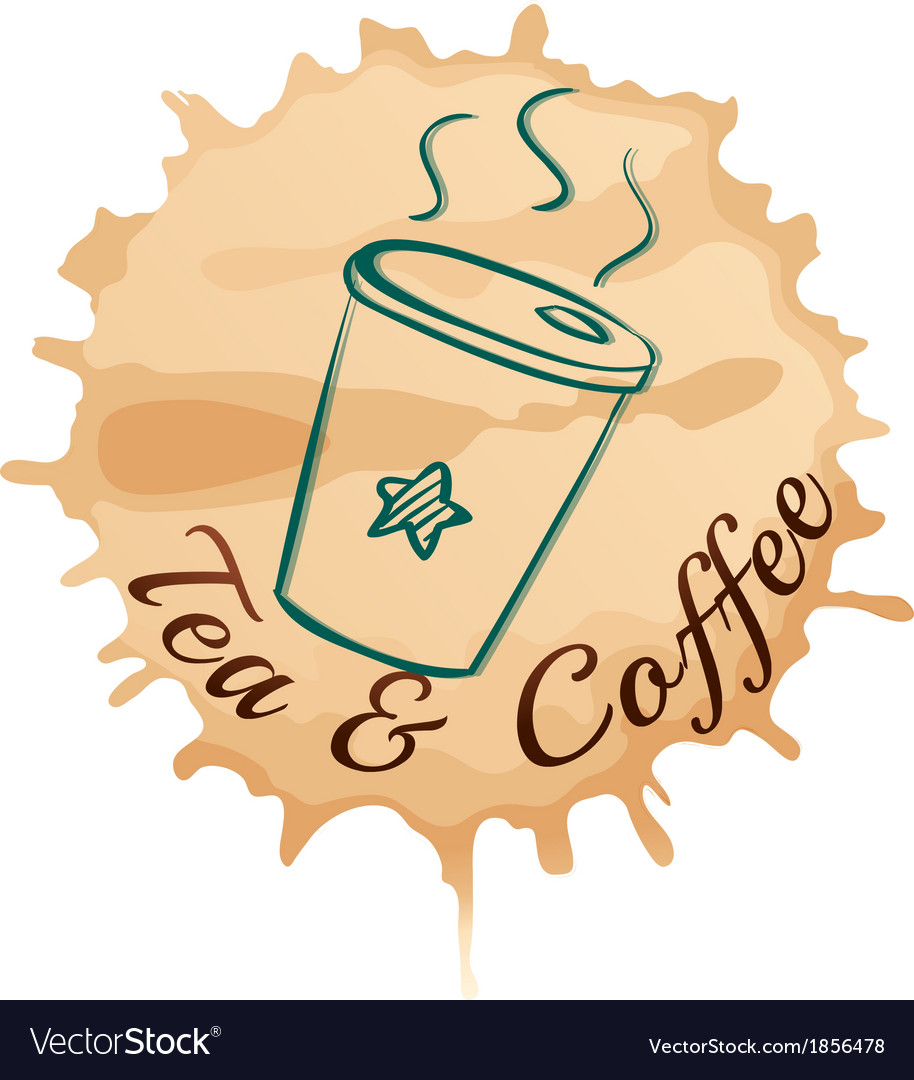 A tea and coffee label vector | Price: 1 Credit (USD $1)