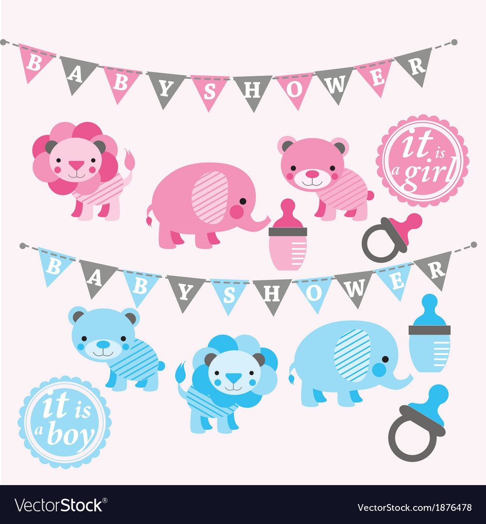 Baby shower kit vector | Price: 1 Credit (USD $1)