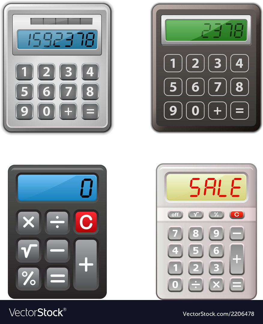 Calculator collection vector   Price: 1 Credit (USD $1)