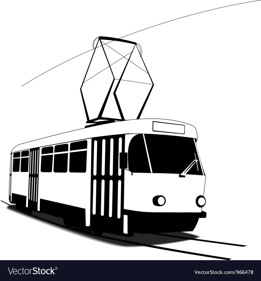 Classic czech tramway vector | Price: 1 Credit (USD $1)