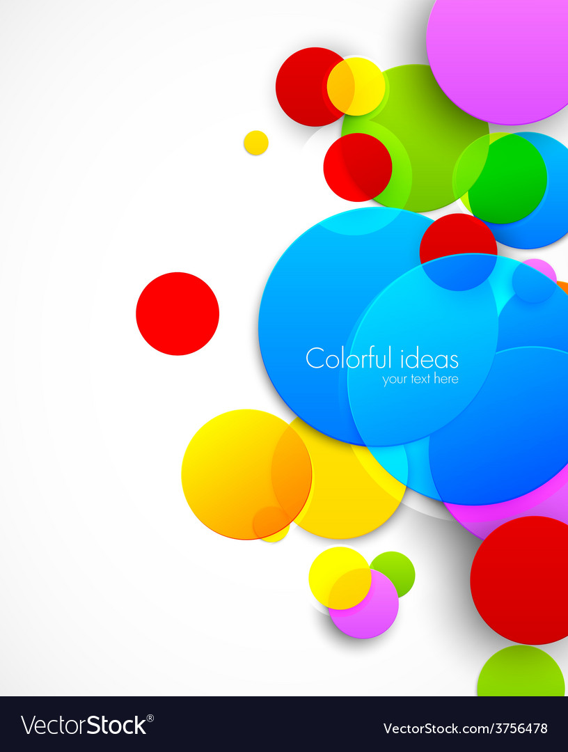 Colorful circles vector | Price: 1 Credit (USD $1)