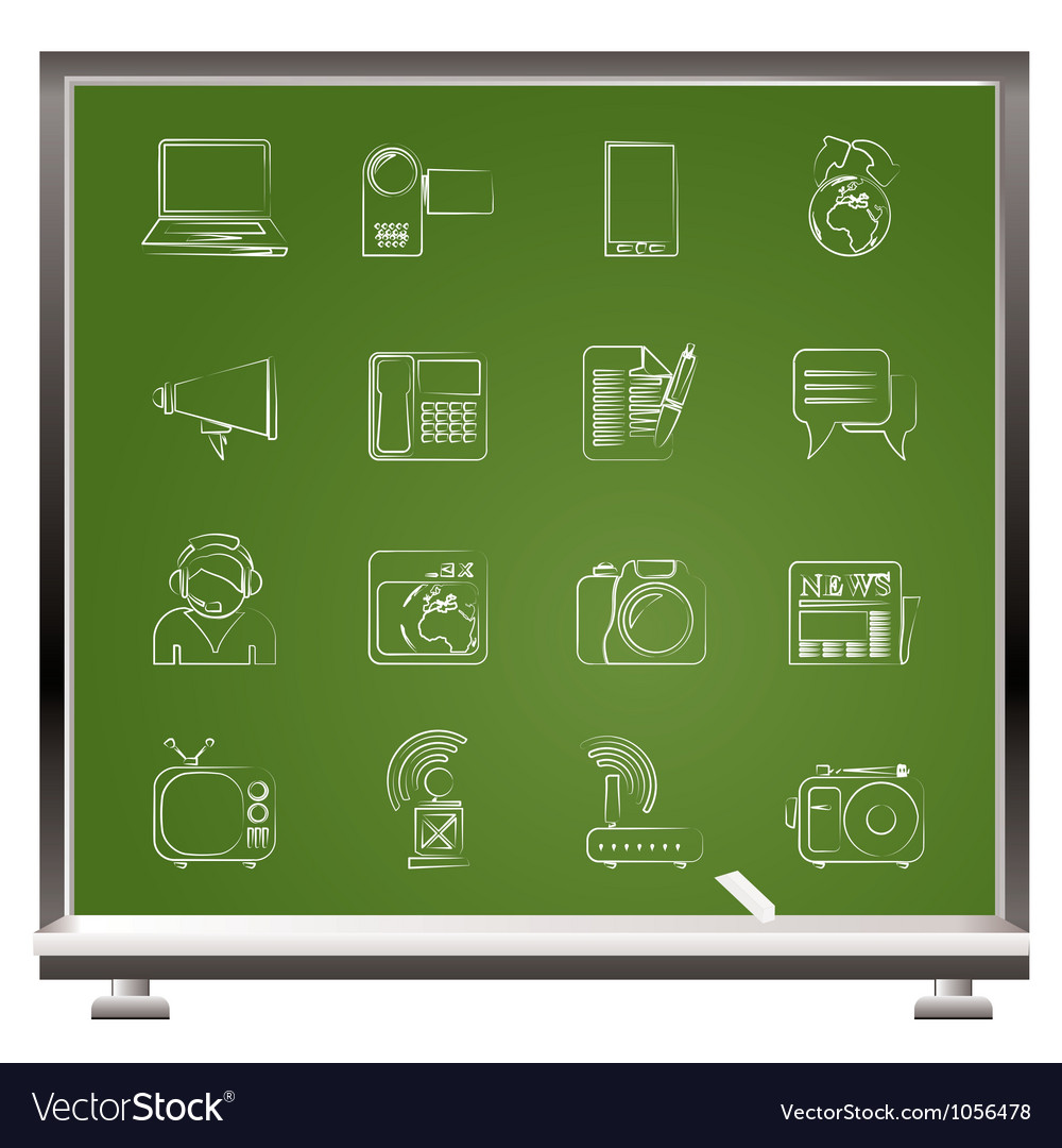 Communication and technology icons vector   Price: 1 Credit (USD $1)