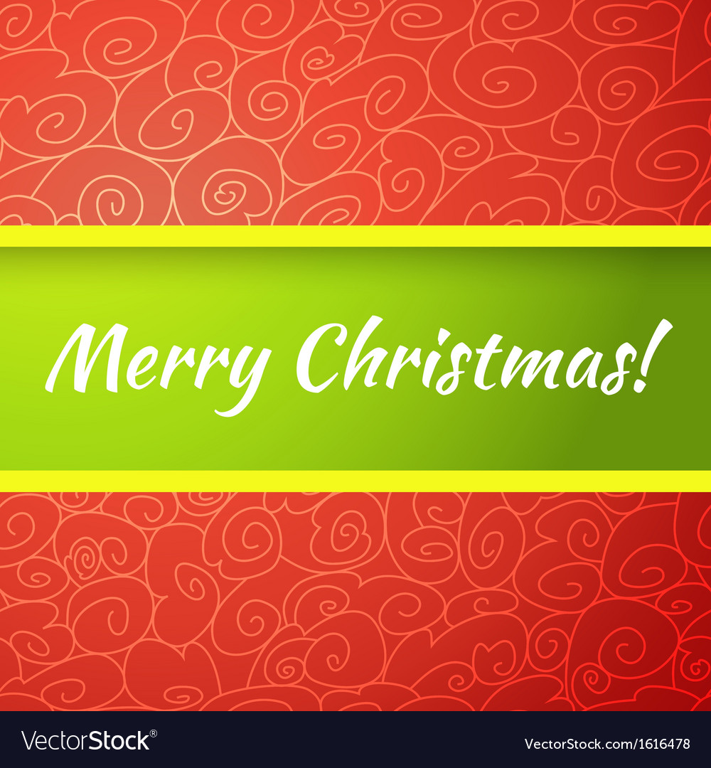 Excellent bright merry christmas greeting card vector | Price: 1 Credit (USD $1)