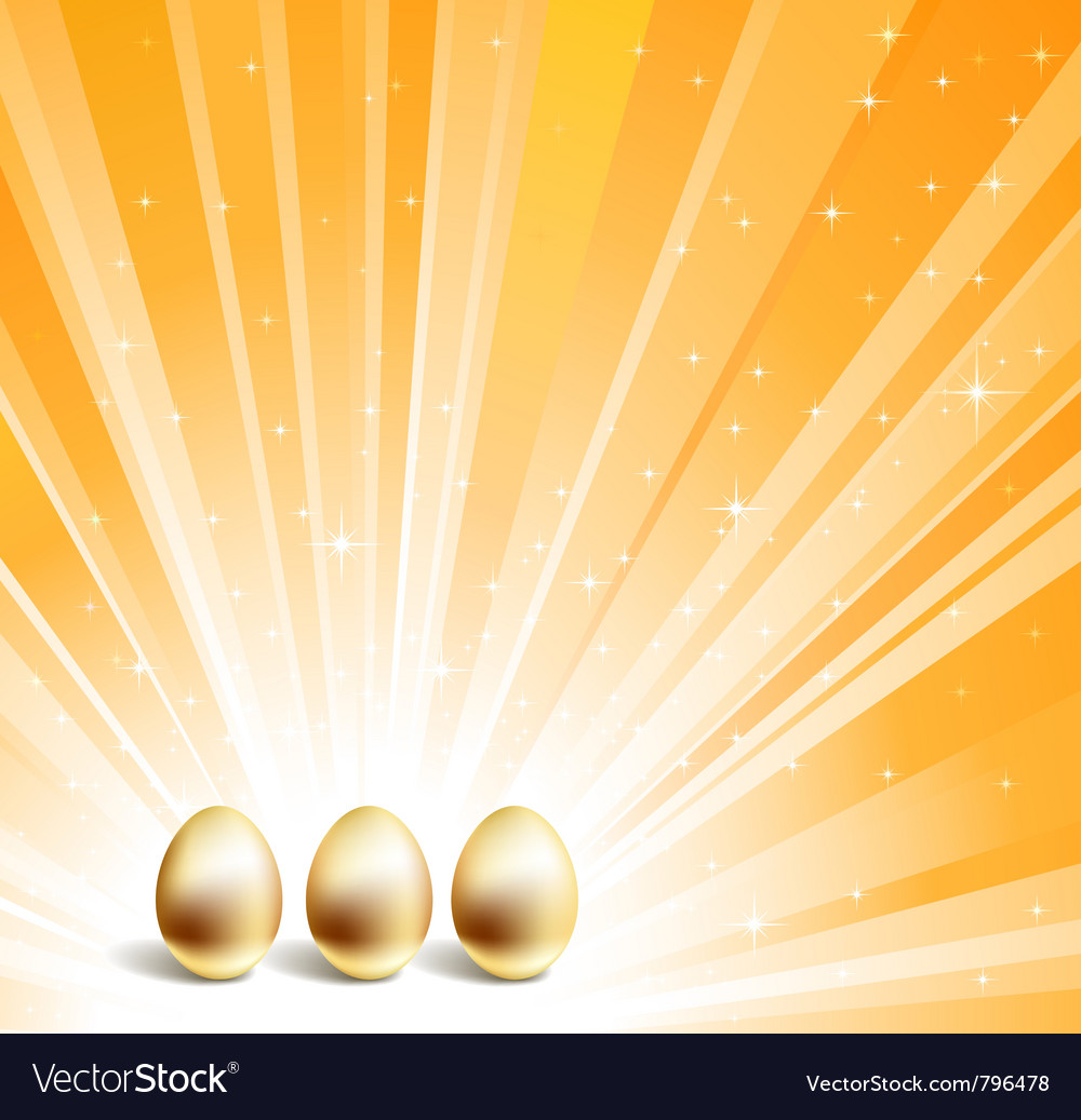 Gold eggs vector | Price: 1 Credit (USD $1)