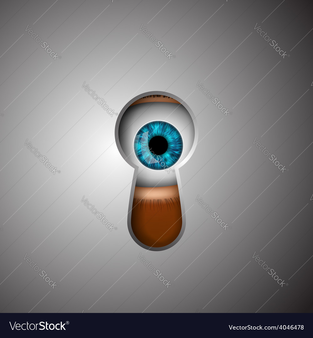 Human eye in the keyhole vector | Price: 1 Credit (USD $1)