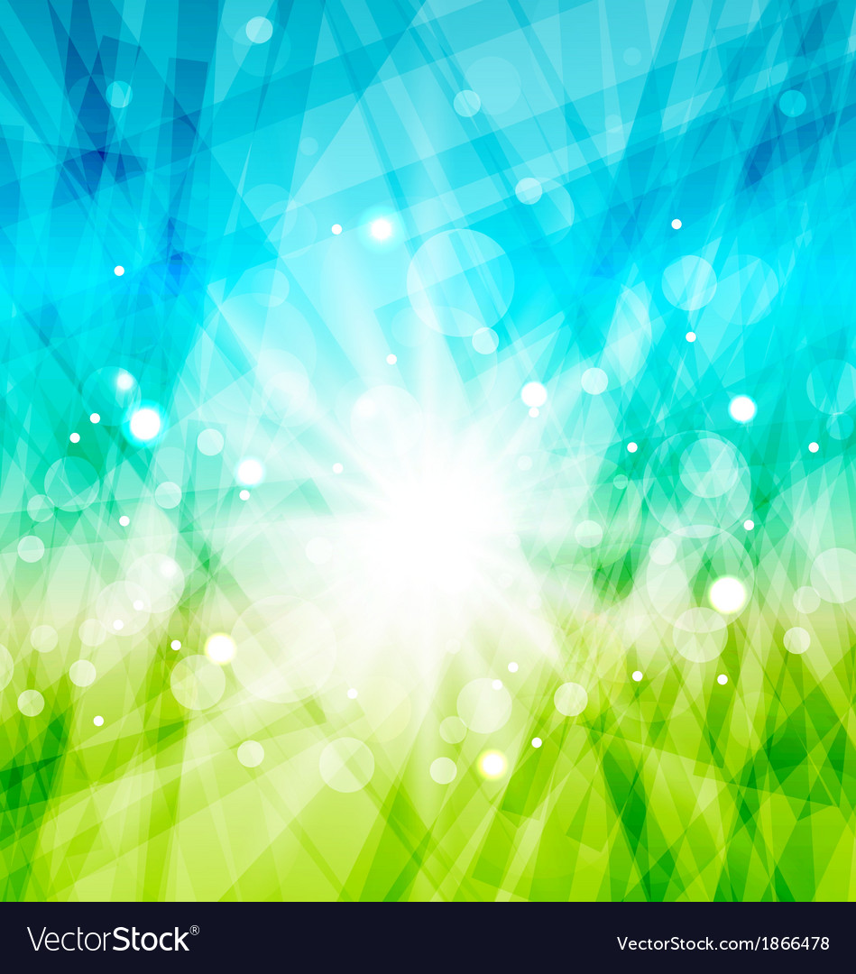 Modern abstract background with sun rays vector | Price: 1 Credit (USD $1)