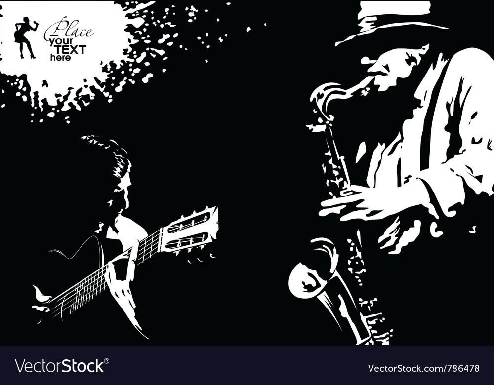 Musician grunge vector | Price: 1 Credit (USD $1)