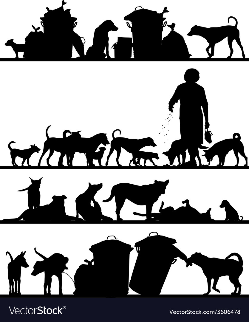 Street dog foregrounds vector   Price: 1 Credit (USD $1)