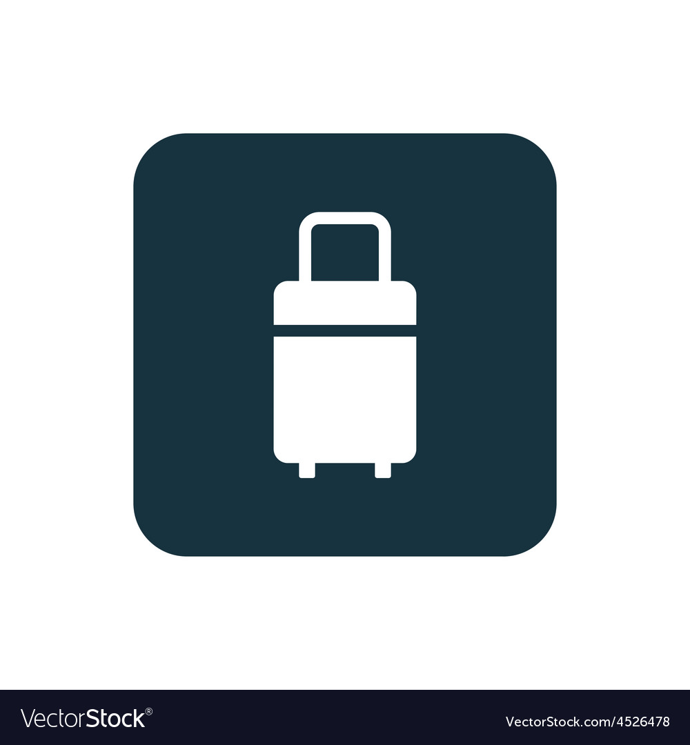 Travel bag icon rounded squares button vector | Price: 1 Credit (USD $1)