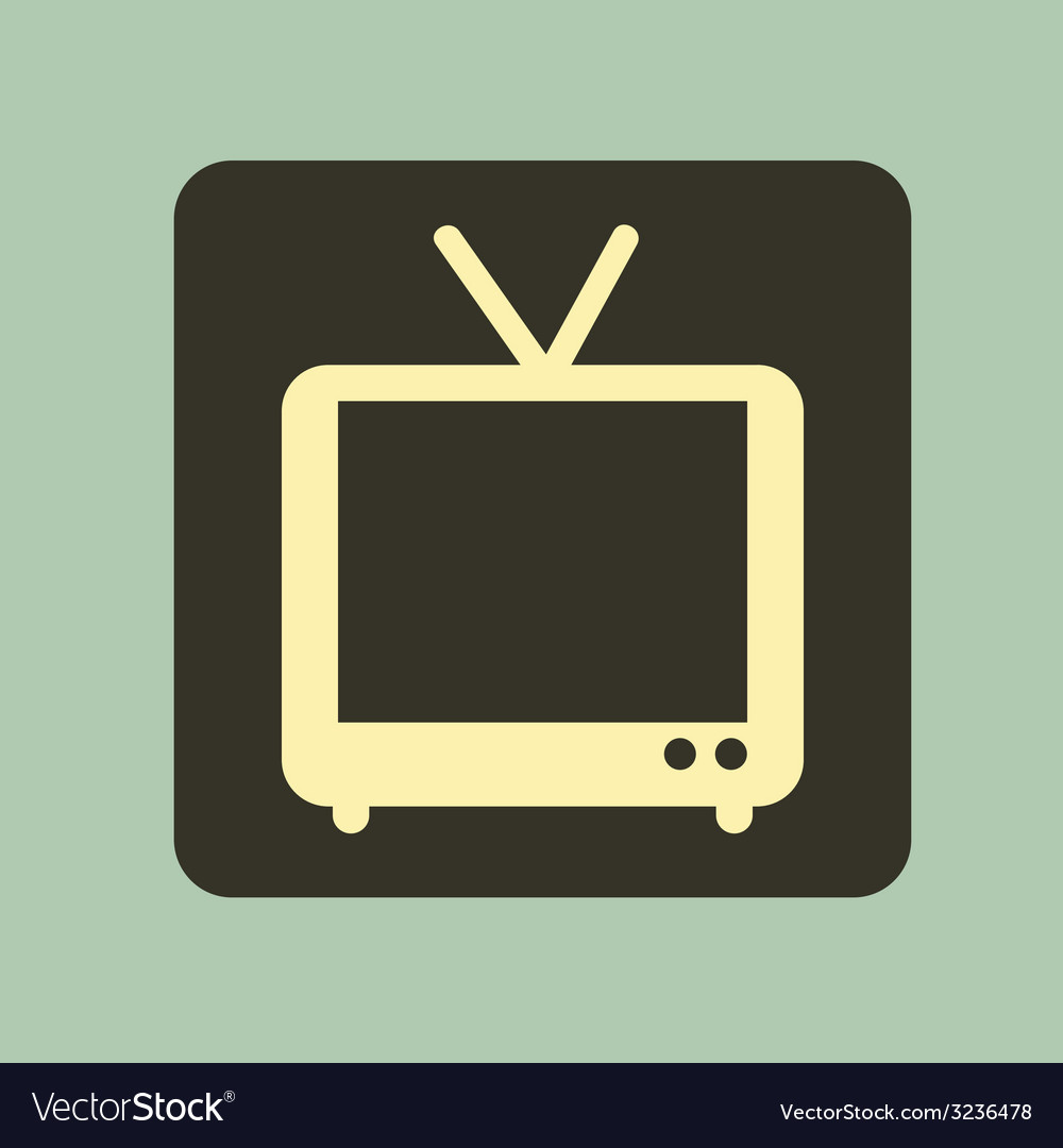 Tv old design vector | Price: 1 Credit (USD $1)