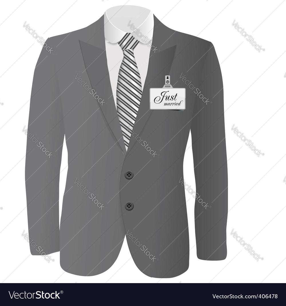 Wedding suit vector | Price: 3 Credit (USD $3)