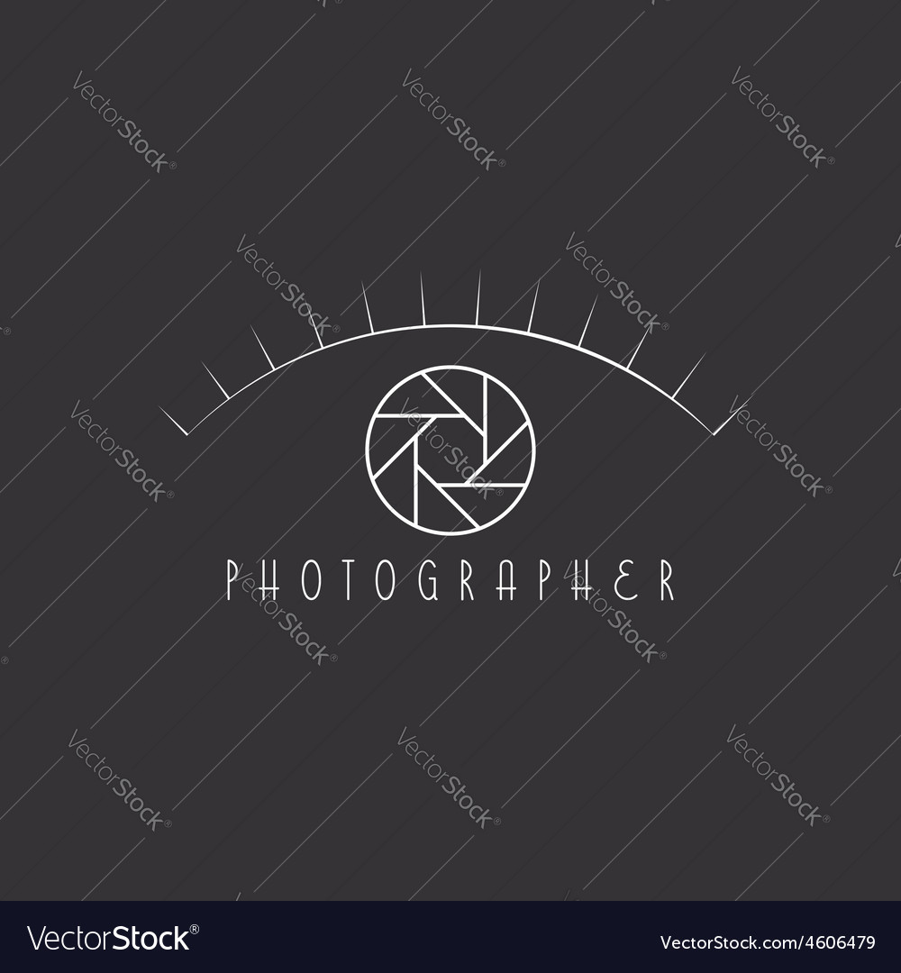 Abstract eye of the photographer colorful aperture vector