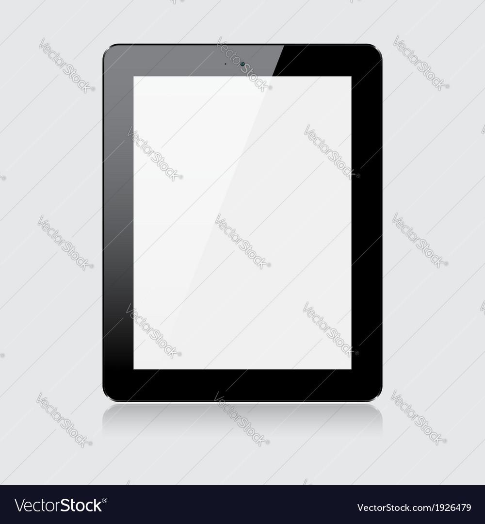 Black tablet vector | Price: 1 Credit (USD $1)