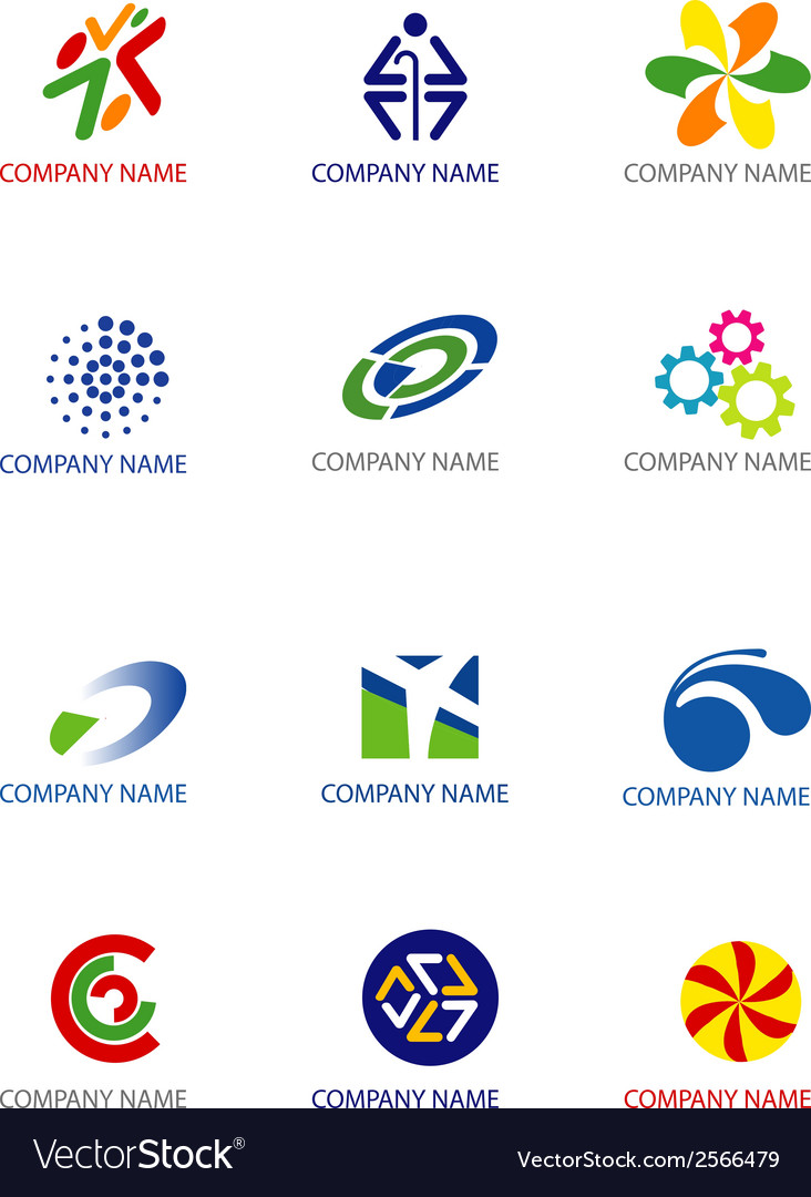 Company symbols vector | Price: 1 Credit (USD $1)
