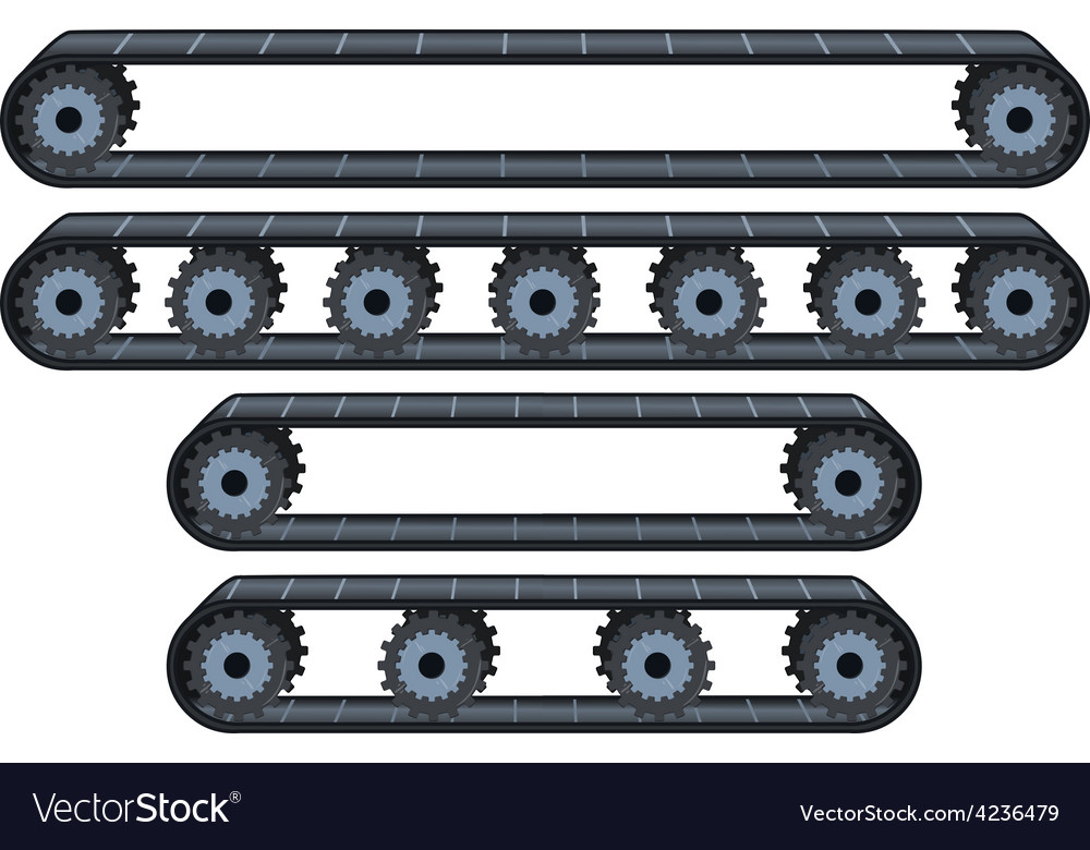 Conveyor belt with wheels pack vector | Price: 1 Credit (USD $1)