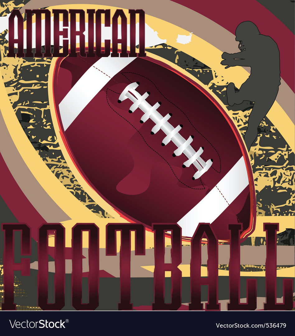 Football design poster vector | Price: 1 Credit (USD $1)
