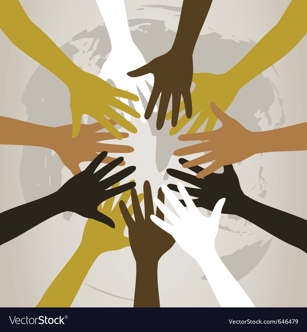 Hands to last against the world a vector | Price: 1 Credit (USD $1)