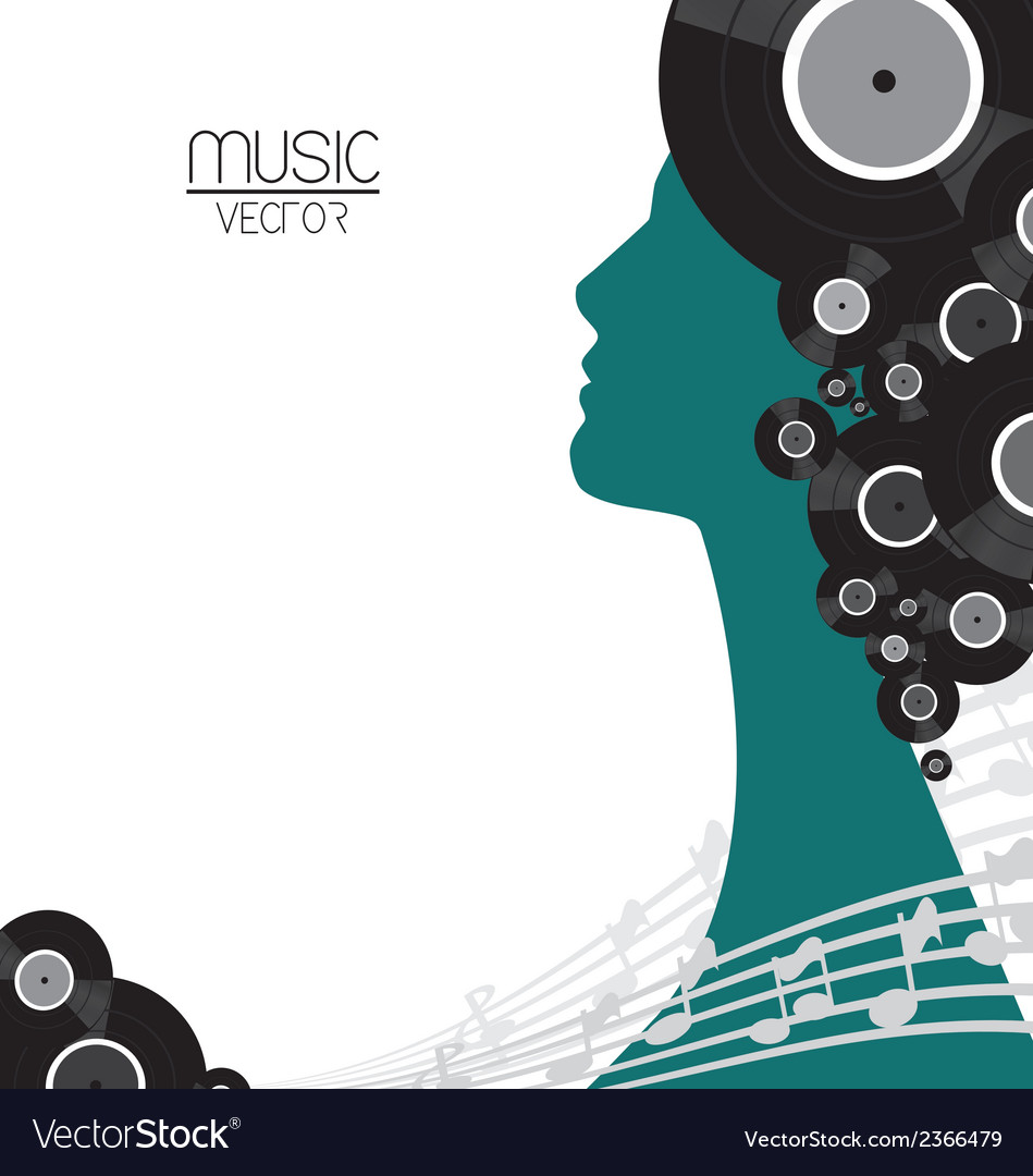 Music vinyl poster vector | Price: 1 Credit (USD $1)
