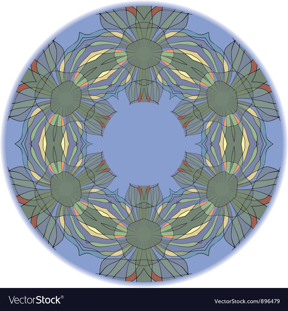 Round ornament vector | Price: 1 Credit (USD $1)
