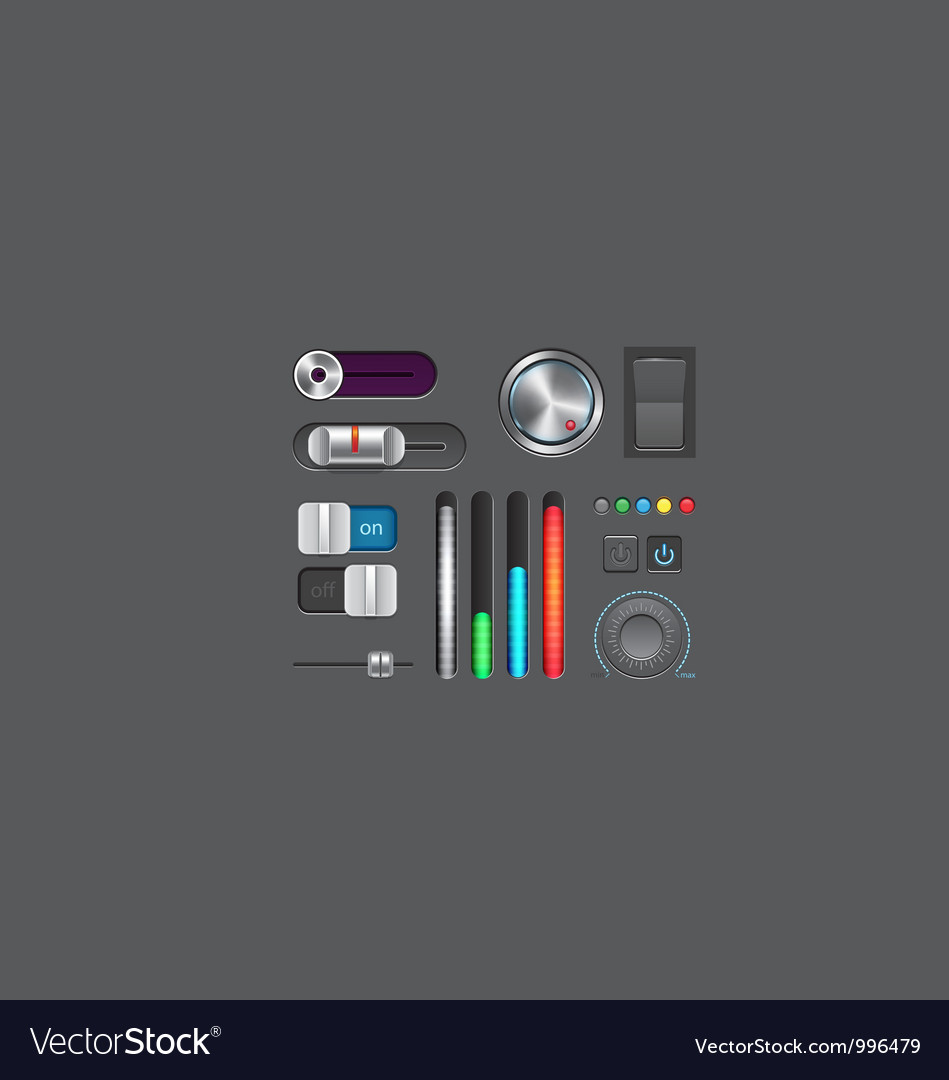 Set of gui elements vector | Price: 3 Credit (USD $3)