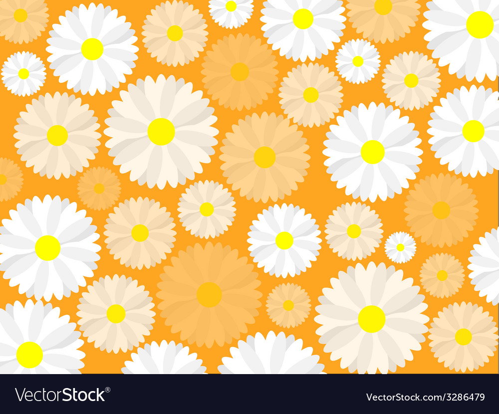 Simple seamless daisy background vector | Price: 1 Credit (USD $1)