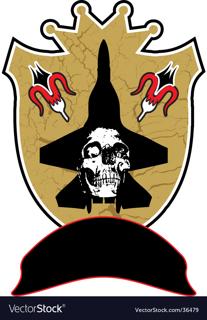 Skull shield vector | Price: 1 Credit (USD $1)