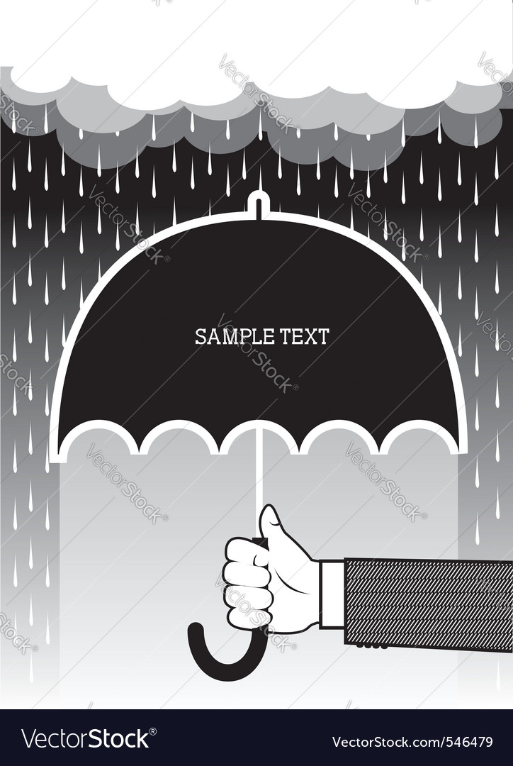 Umbrella hands vector | Price: 1 Credit (USD $1)
