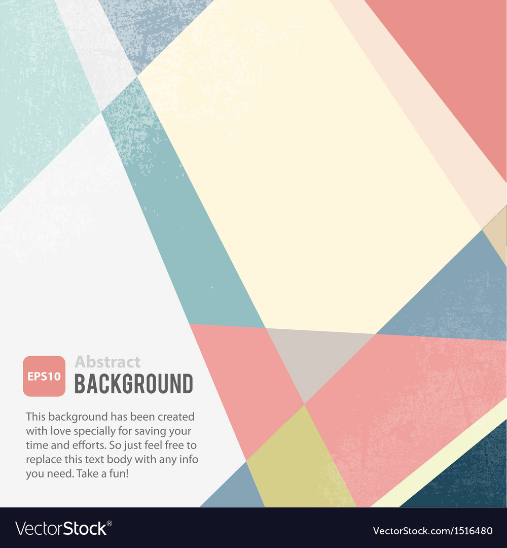 Abstract geometric background template vector | Price: 1 Credit (USD $1)