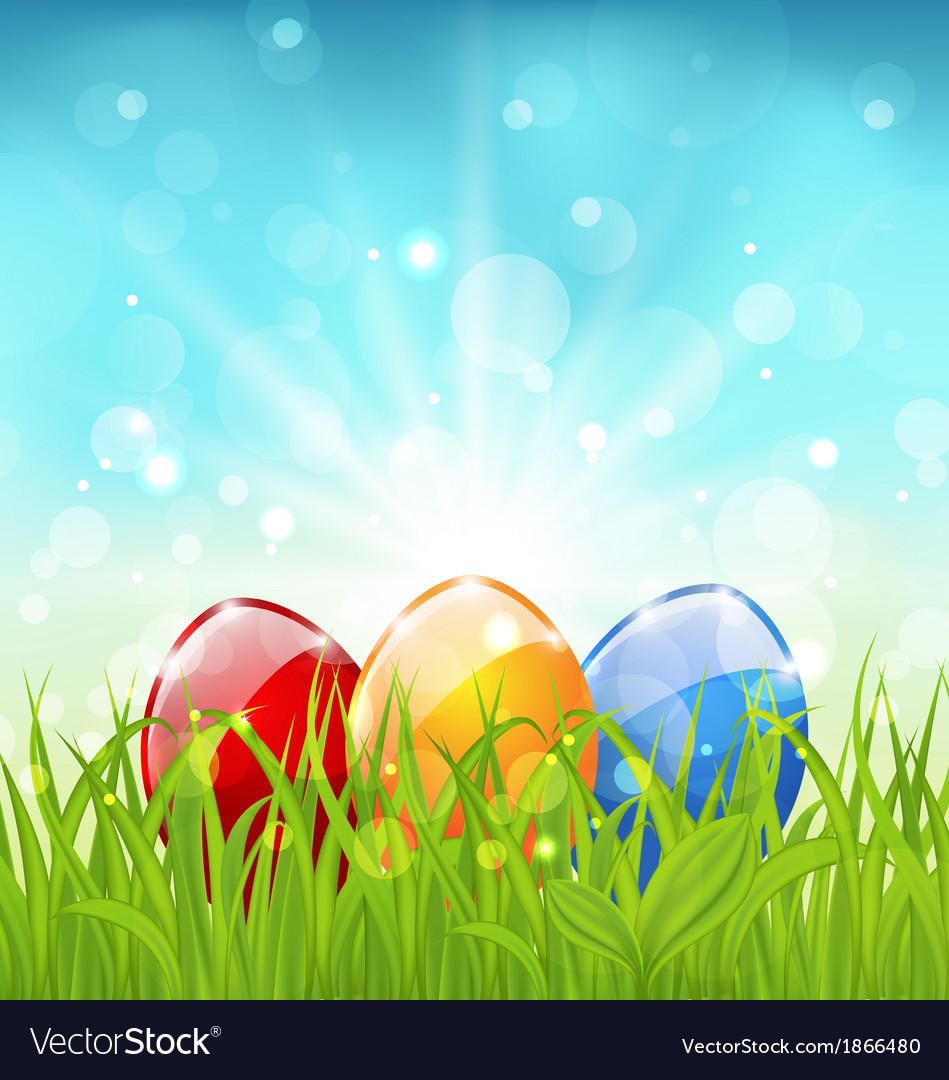 April background with easter colorful eggs vector | Price: 1 Credit (USD $1)