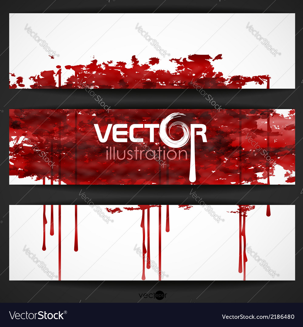 Bloody watercolor spots vector | Price: 1 Credit (USD $1)