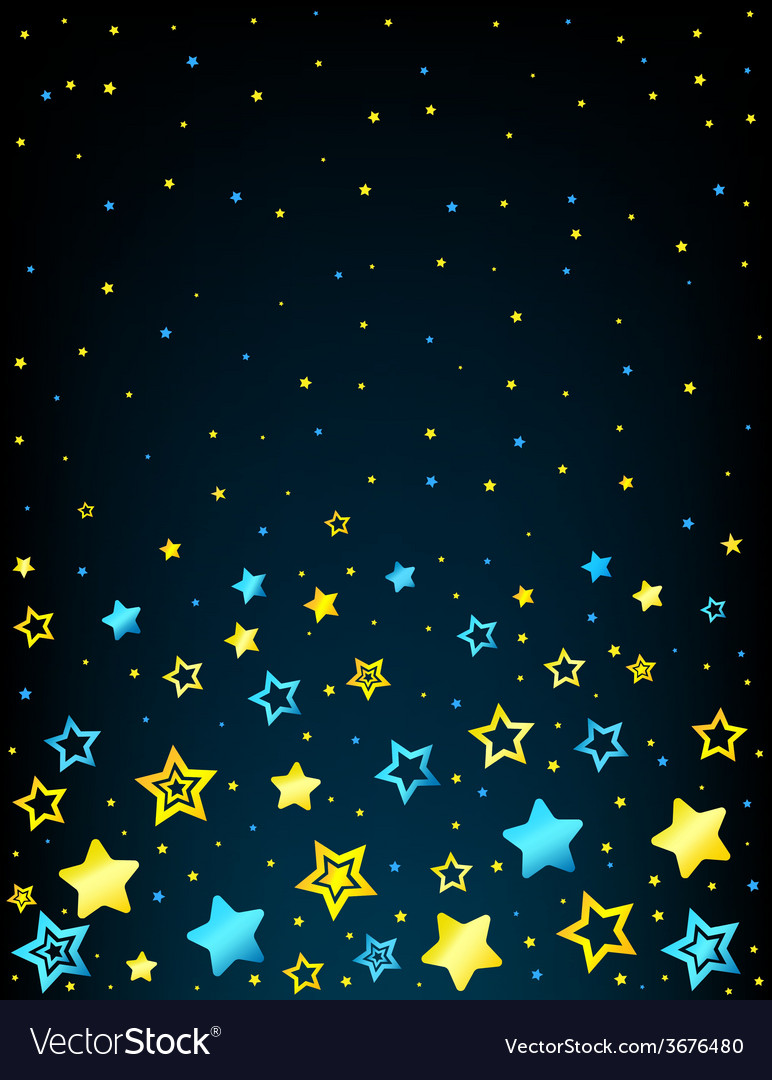 Cartoon star colored background vector | Price: 1 Credit (USD $1)