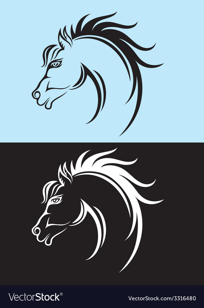 Horse face vector | Price: 1 Credit (USD $1)